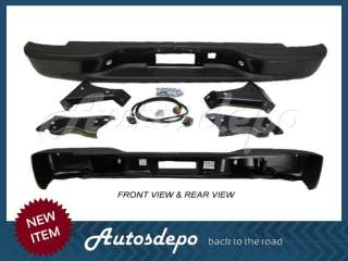 99 06 CHEVY SILVERADO REAR BUMPER BLACK STEPSIDE W/BRT