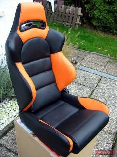 SPORTSITZE HONDA JAZZ CIVIC ACCORD CRX LEDER ORANGE