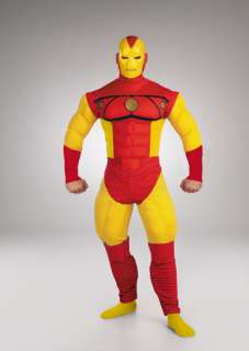 Adult Iron Man Full Muscle Costume   Iron Man Costumes   15DG5219