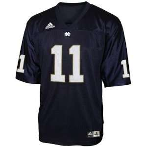 adidas Notre Dame Fighting Irish #11 Navy Blue Replica Football