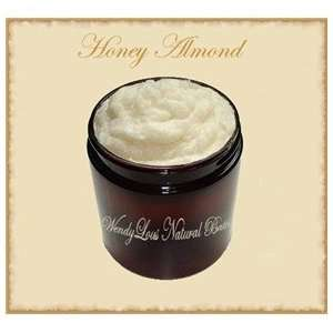 Honey Almond Whipped Sugar Scrub with Shea Butter   8 oz