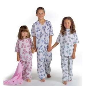 Animal Friends Pediatric Gowns   Blue, Large   Qty of 12   Model