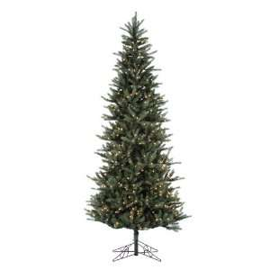 10 Pre lit Tiffany Spruce Slim Artificial Christmas Tree   Clear