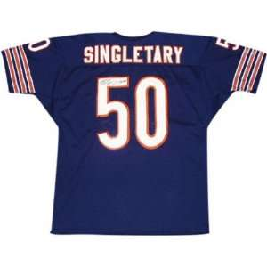 Mike Singletary Autographed Navy Custom Jersey with HOF98