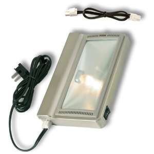 8 Plug In 20W Xenon Cabinet Light, Nickel