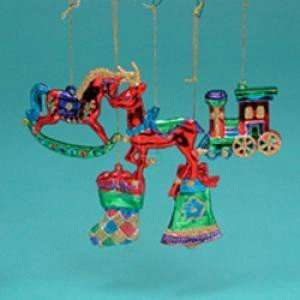 2 5 3 PLASTIC SHINY MULTI COLOR CHRISTMAS ORNAMENT, SET