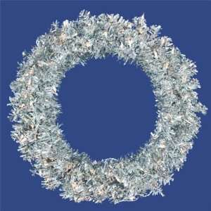 Artificial Christmas Wreath   Clear Lights by Gordon