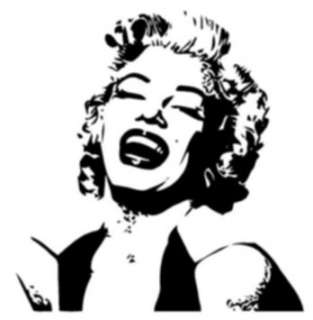 Marilyn Monroe Silhouette Style #1 Vinyl Wall Art Decal