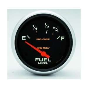 Auto Meter Pro Comp Analog Gauges Gauge, Pro Comp, Fuel Level, Empty