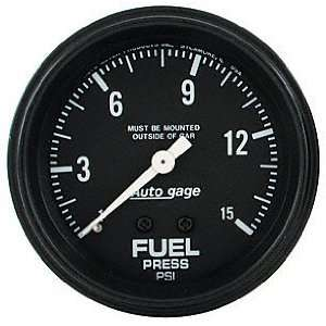 Auto Meter 2311 Auto Gage 2 5/8 0 15 PSI Mechanical Fuel