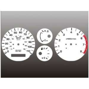 2000 2001 Nissan Xterra Frontier White Face Gauges 00 01 Automotive