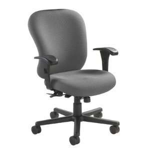 Heavy Duty Task Chair Fabric Foundation charcoal