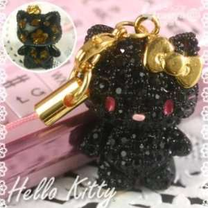 Sanrio Hello Kitty Pave Jewelry Cell Phone Charm (Black