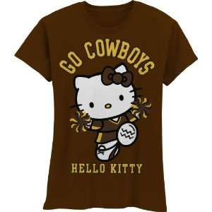Cowboys Hello Kitty Pom Pom Girls Crew Tee Shirt