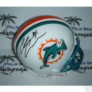 Chris Chambers signed Miami Dolphins Mini Helmet Sports