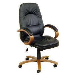 Position Leather Office Chair, Jet Black
