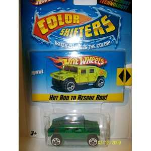 Hot Wheels Color Shifters Green   Blue Humvee  Toys & Games