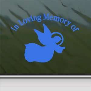 In Loving Memory Angel Blue Decal Truck Window Blue
