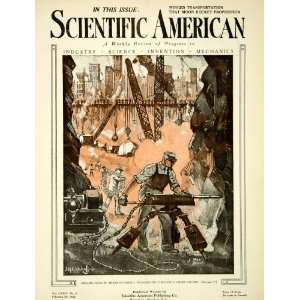 1921 Cover Scientific American Mitchell Drilling Rock Jack