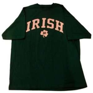 Notre Dame Fighting Irish Mens Short Sleeve T Shirt Green