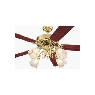 Monte Carlo 5BS52PB Builder Supreme Ceiling Fan Polished Brass Finish