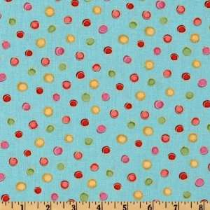44 Wide Love Hearts Spots Aqua Fabric By The Yard Arts