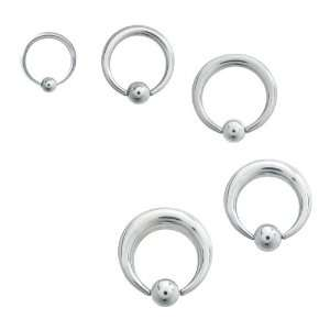 316L Surgical Steel Pincher Captive Bead Rings   12G   1/2