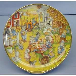 Franklin Mint Collectible Purrfect Feast Plate Cats