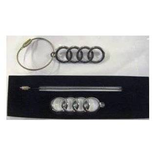 Audi Twist open Valet Leather Key Chain Automotive