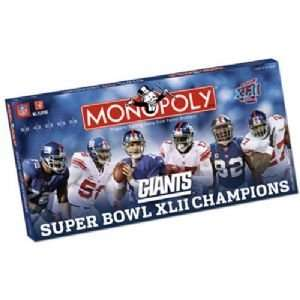 New York Giants NFL Super Bowl Monopoly Toys & Games