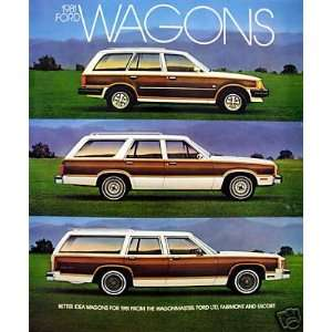 1981 Ford Wagons vehicle overview brochure Everything
