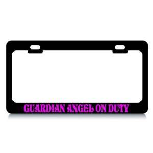 GUARDIAN ANGEL ON DUTY #4 Religious Christian Auto License Plate Frame
