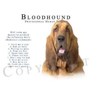 Bloodhound Human Trainer Mouse Pad Dog Mousepad Kitchen