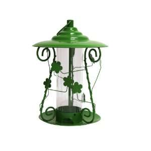 Heath Outdoor 21213 decortive Floral Bird Feeder, Metal Green