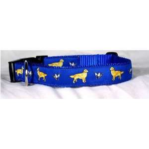 Designer Golden Retriever Dog Collar   Red Golden Retriever Collar
