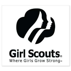 Girl Scouts Strong car bumper sticker window decal 5 x 4