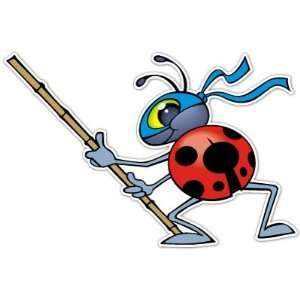 Ladybug Ninja Kids Laptop Car Bumper Sticker Decal 5.5x3