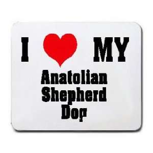 I Love/Heart Anatolian Shepherd Dog Mousepad Office
