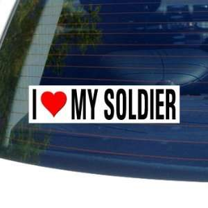 I Love Heart My Soldier Window Bumper Sticker Automotive