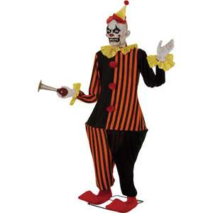 6 Life Size Animated Evil Halloween Clown Decoration