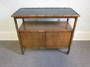 Baker Faux Bamboo Hollywood Regency Server Bar Cart