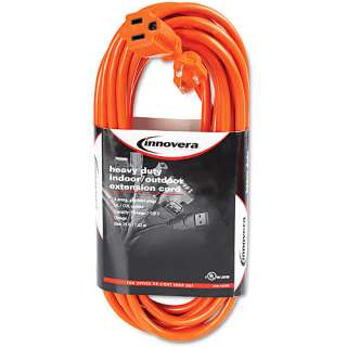 Innovera Indoor/Outdoor Heavy Duty Extension Cord, Orange
