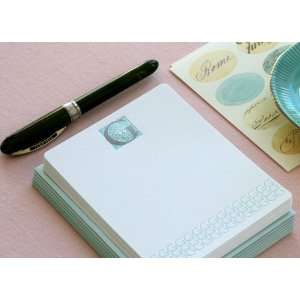 Letterpress Monogram Note Card Set G Health & Personal
