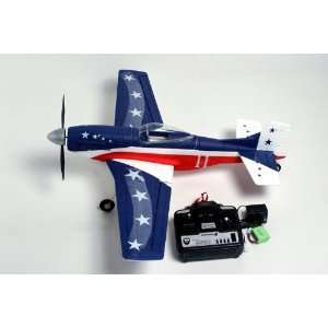 MUSTANG Radio Remote Control Electric RC Warbird Airplane RTF (Blue