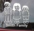DOG STICK FAMILY PEOPLE VINYL CAR STICKER DECAL MF