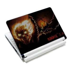 Fire Flame Skull Laptop Notebook Protective Skin Cover